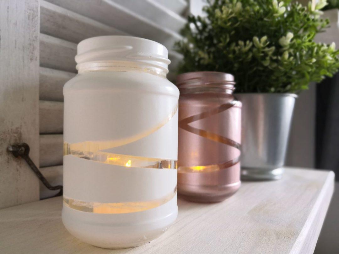 Upcycling-Teelichtgläser aus Altglas