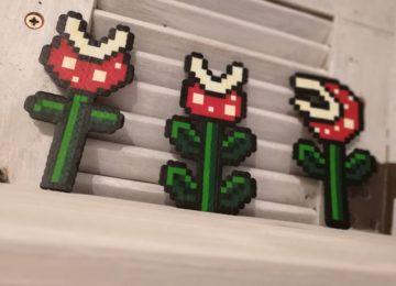 Super Mario Blumen aus Bügelperlen